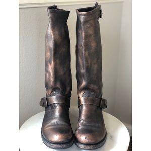 Frye Metallic Bronze Pull On Boots